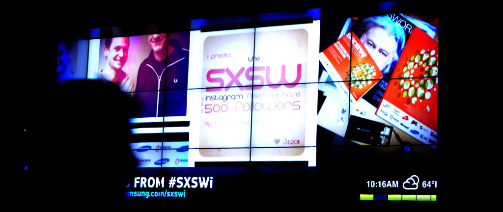 SXSWi Social Media Installation 1042