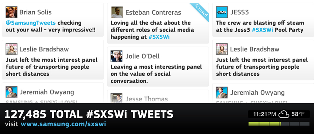 SXSWi Social Media Installation 1028