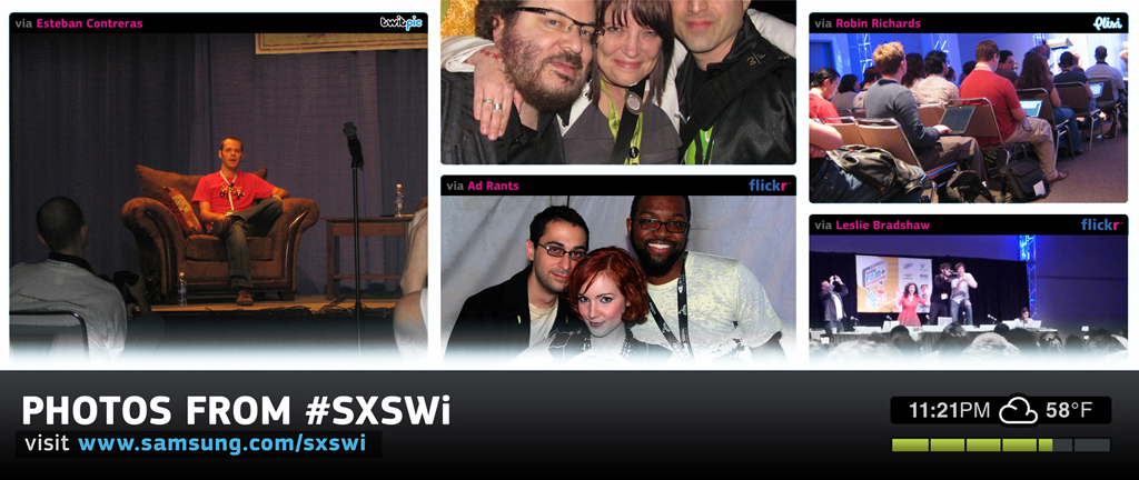 SXSWi Social Media Installation 1029