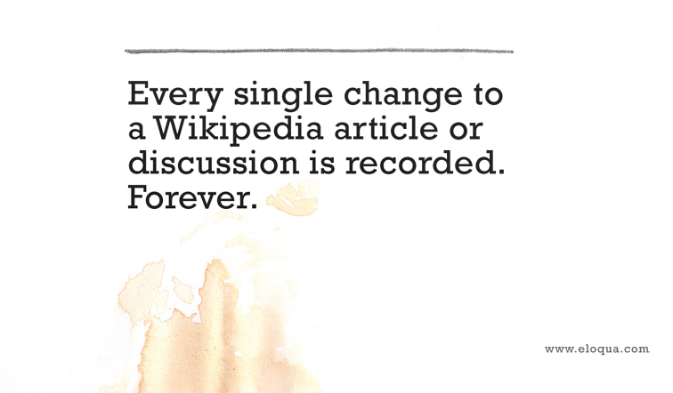 Eloqua Grande Guide to Wikipedia 1101