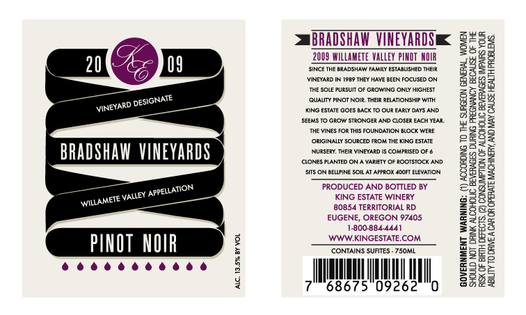 Bradshaw Vineyards Label Design 1362