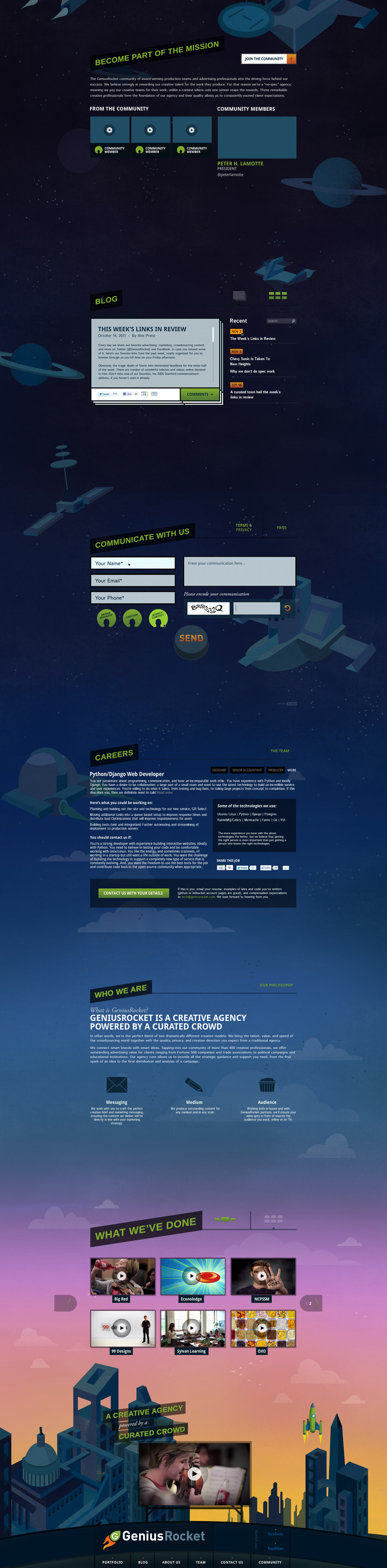 GeniusRocket Website Redesign 2295