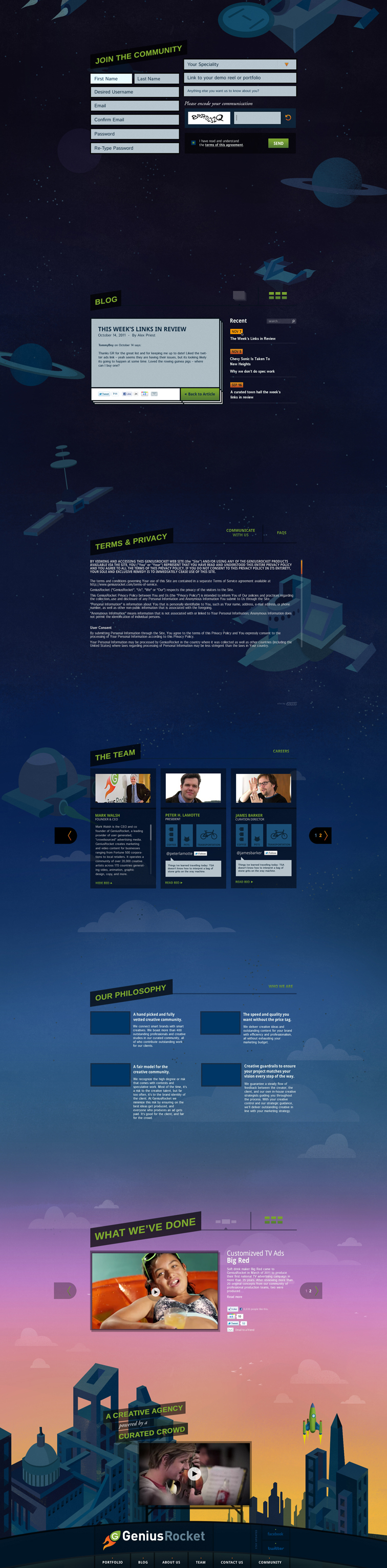 GeniusRocket Website Redesign 2296