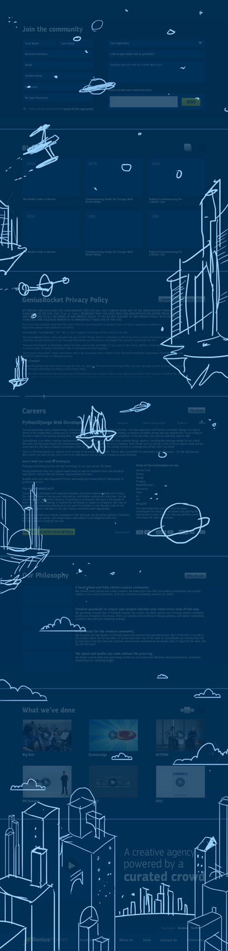 GeniusRocket Website Redesign 2300