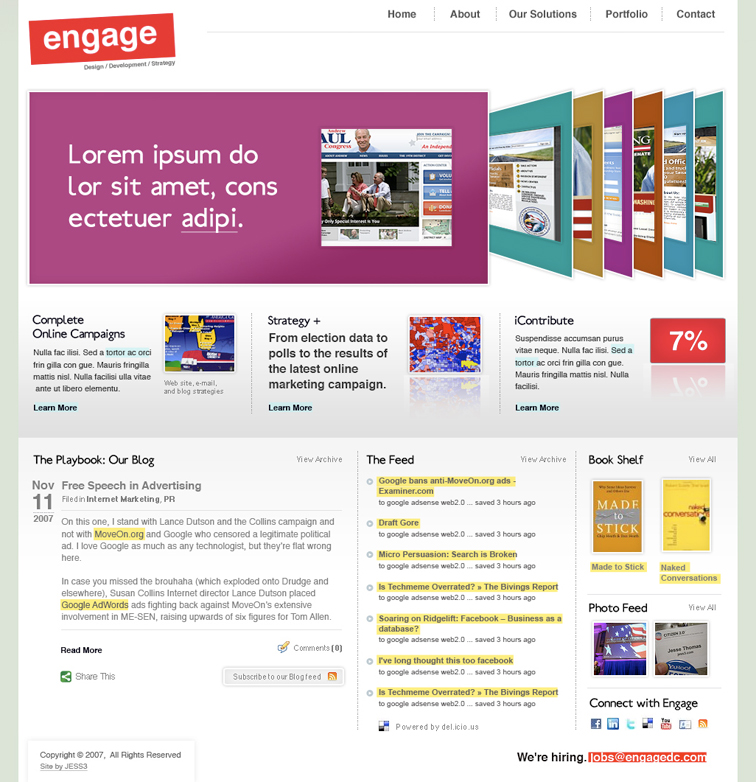 Engage Corporate Website and Blog 384