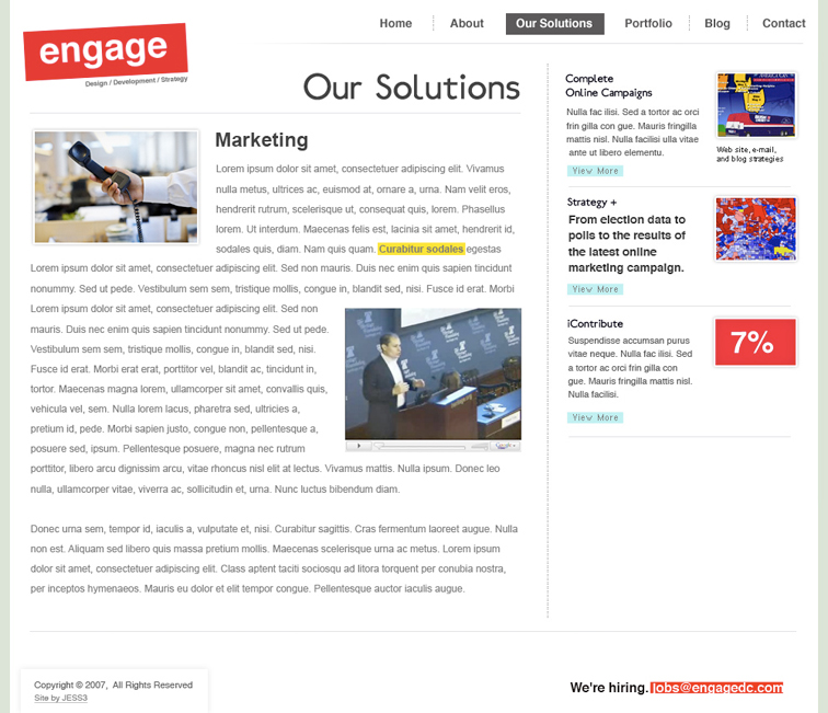 Engage Corporate Website and Blog 386