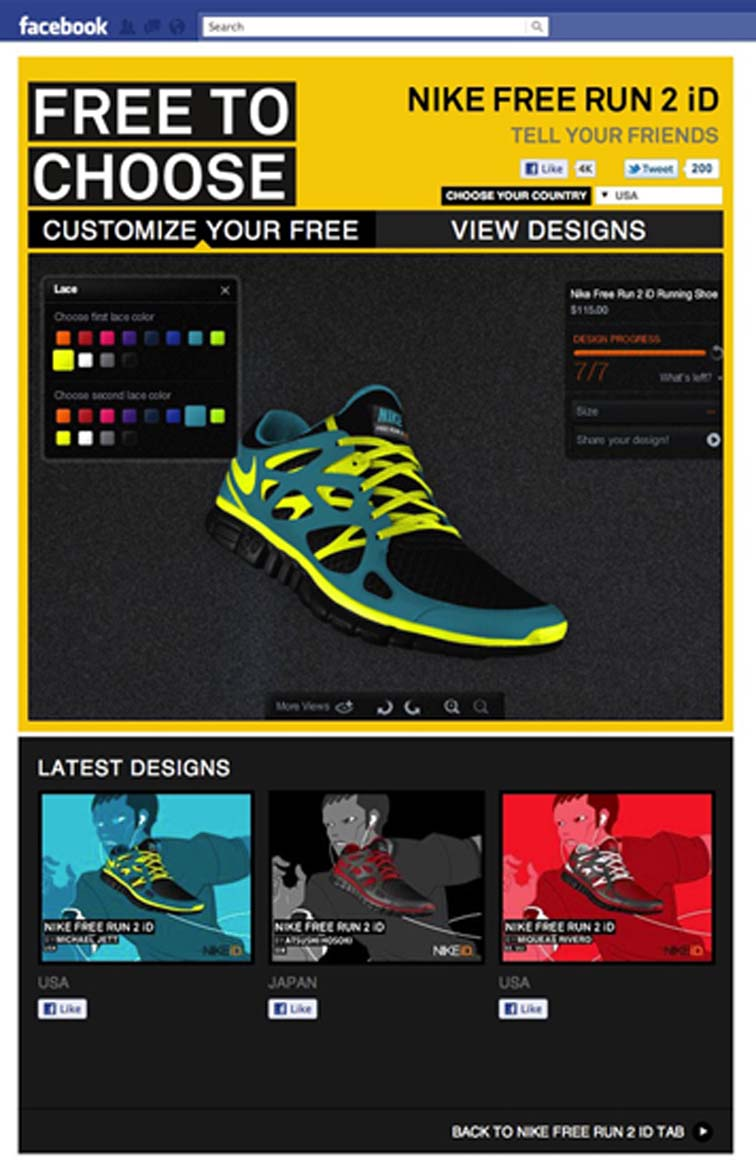 Nike Free Run 2 Facebook Tab 6916