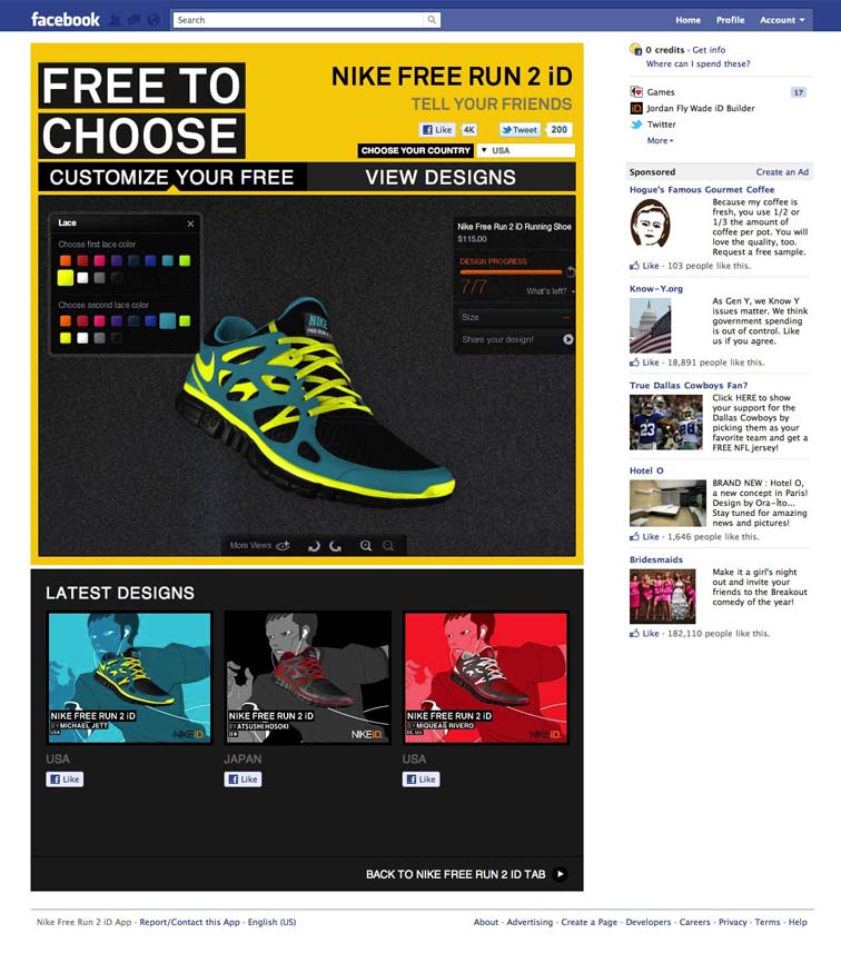 Nike Free Run 2 Facebook Tab 6918