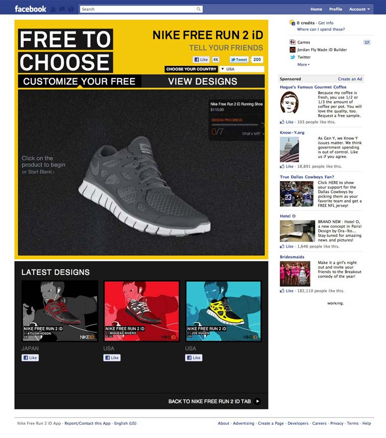 Nike Free Run 2 Facebook Tab 6919