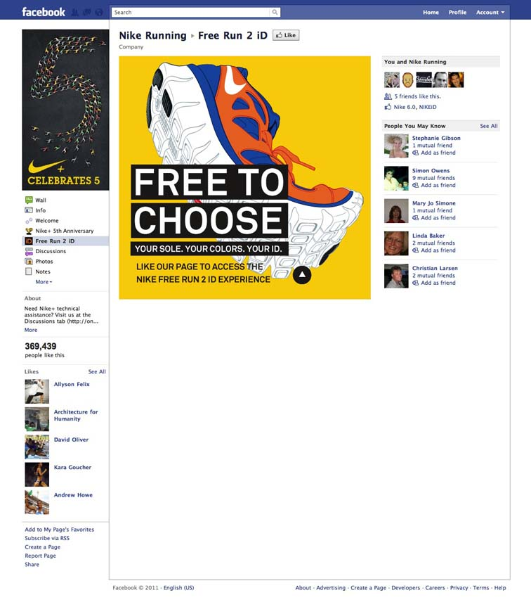 Nike Free Run 2 Facebook Tab 6922