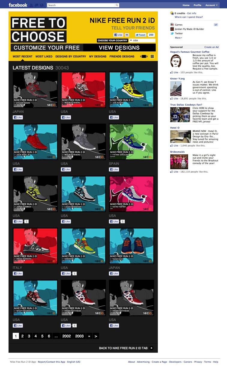 Nike Free Run 2 Facebook Tab 6925