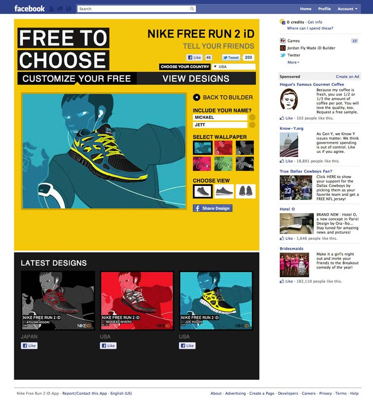 Nike Free Run 2 Facebook Tab 6926