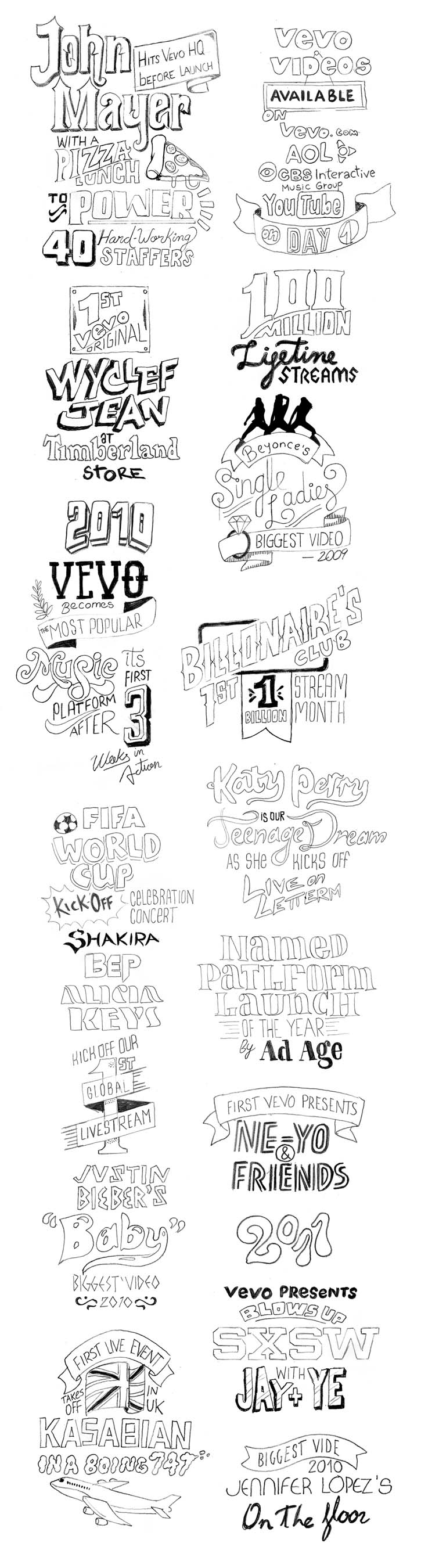Vevo Fifth Anniversary Infographic 7005