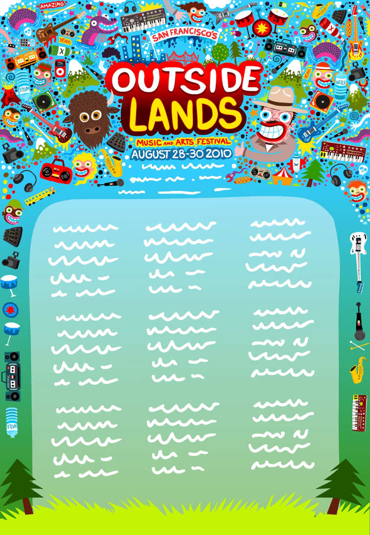 Outside Lands Branding and Illustrations 889