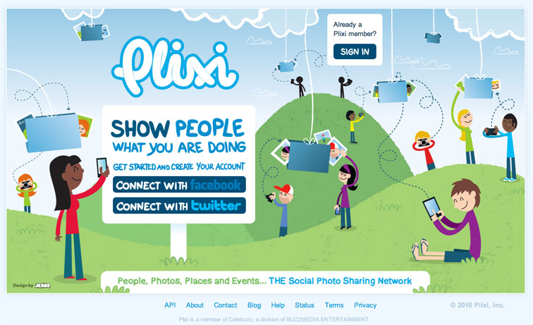 Plixi Homepage Design 210