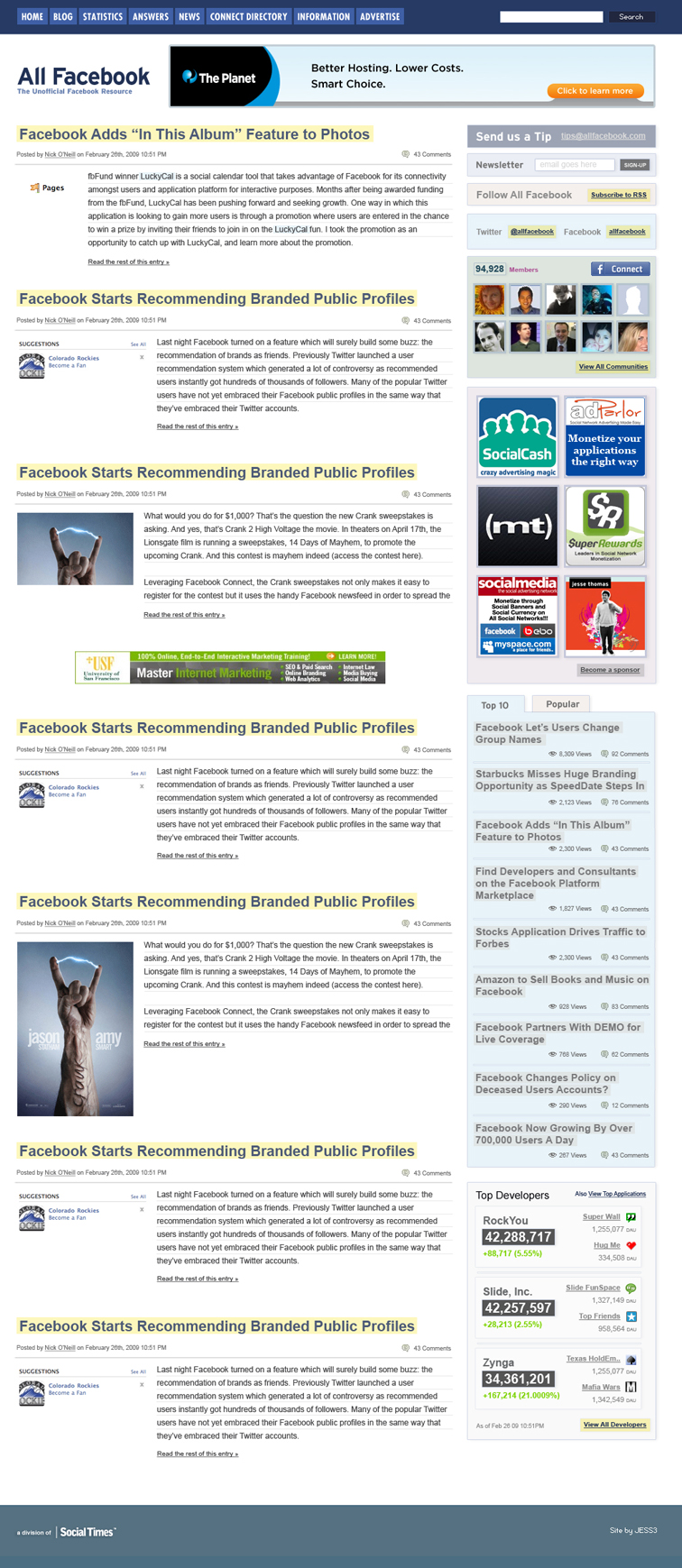 All Facebook Branding, Website and Stat Tracker UI 703